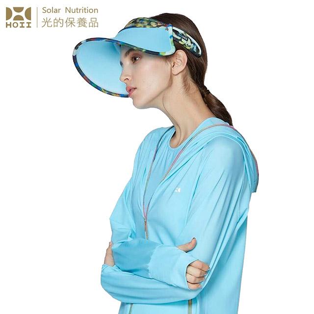 【后益 HOII】UPF50+抗UV防曬涼感先進光學機能布-印花伸縮豔陽帽  ★藍光