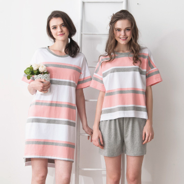 【MFN蜜芬儂】MIT-率性條紋純棉居家睡衣