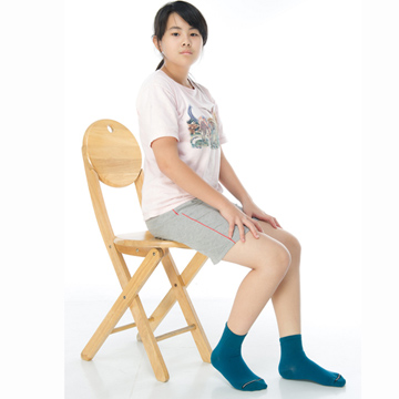 【KEROPPA】可諾帕7~12歲學童專用吸濕排汗短襪x3雙C93007-B紫色
