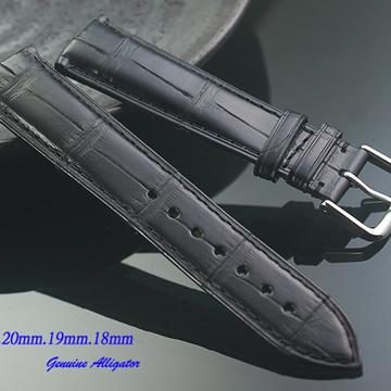 進口純正鱷魚皮-通用型高級錶帶 ( 22mm.21mm.20mm.19mm.18mm)