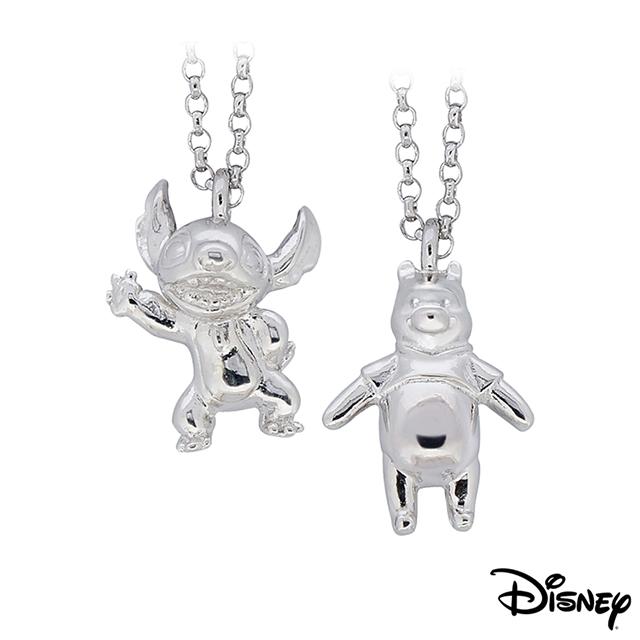 Disney迪士尼系列金飾 立體純銀墜子 焦點史迪奇款+樂活維尼款