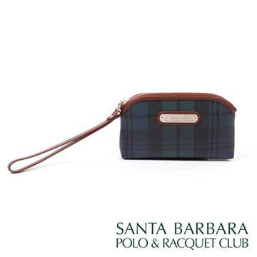 SANTA BARBARA POLO & RACQUET CLUB -經典綠格手腕袋零錢包