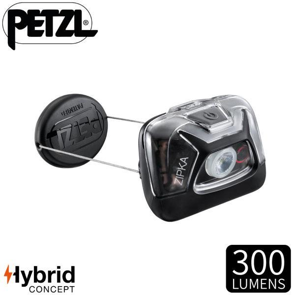 【PETZL 法國 ZIPKA頭燈《黑》】E093GA00/300流明/頭燈/登山露營/手電筒/緊急照明