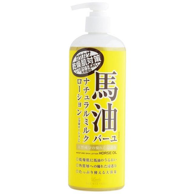日本【馬油Loshi】北海道馬油保濕身體乳液-485ml