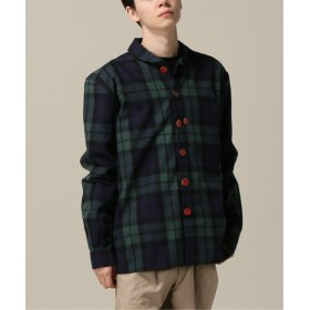 WISM 【LABRUM / ラブラム】 ASIS CHECK ROLL NECK SHIRT-BLACK イエロー S