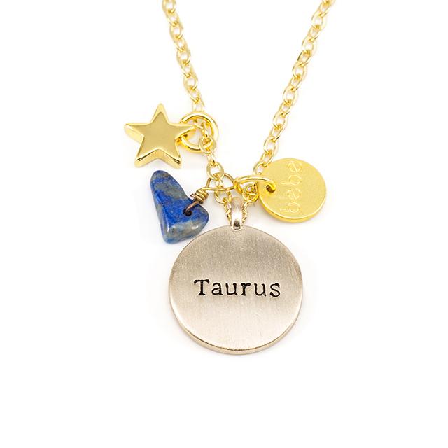 彩糖貝貝 青金石 星座項鍊5月金牛座項鍊 Taurus