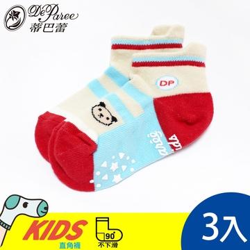 蒂巴蕾 KIDS 直角船襪-小熊