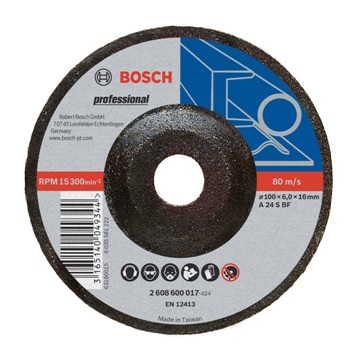 "BOSCH 4"" 砂輪片 (磨) 100x6.0x16.0mm"
