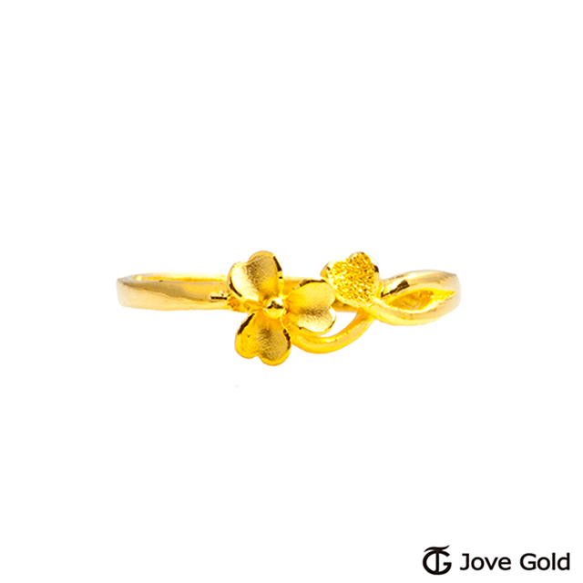 Jove gold 漾金飾 戀戀花開黃金戒指