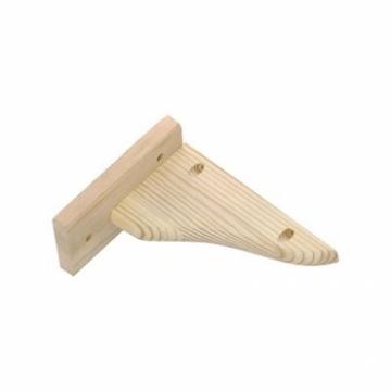 【特力屋】綠緻松木托架16公分
