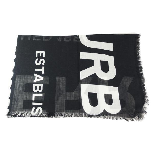 BURBERRY Horseferry 印花輕盈羊毛絲綢圍巾(黑)