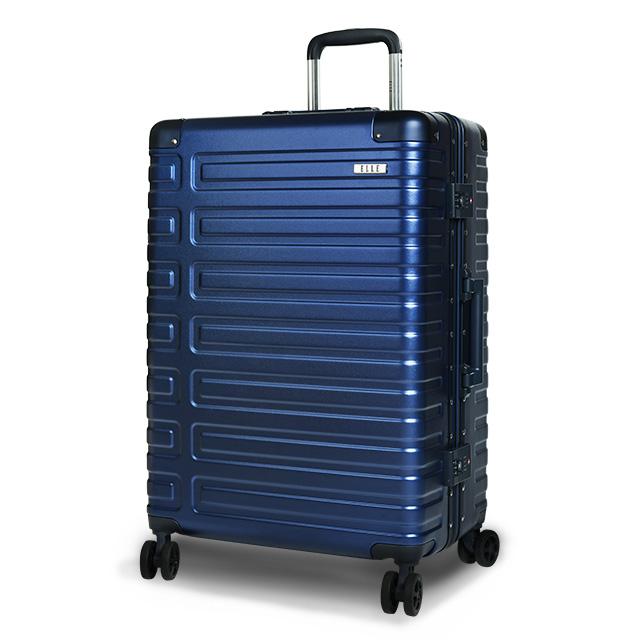ELLE  Olivia 系列  28吋裸鑽刻紋100%純PC行李箱 寶石藍 EL31251