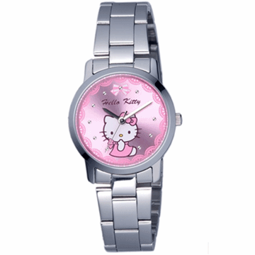 【HELLO KITTY】凱蒂貓可愛滿分俏麗手錶 (粉紅 LK680LWPI)
