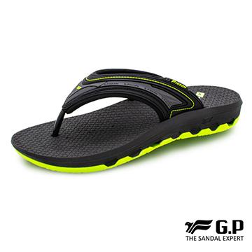 【G.P 男款透氣舒適人字拖鞋】G0537-綠色 (SIZE:37-44 共三色)
