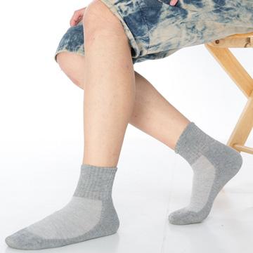 【KEROPPA】可諾帕細針毛巾底5比1氣墊1/2男短襪x3雙C91006-A灰色
