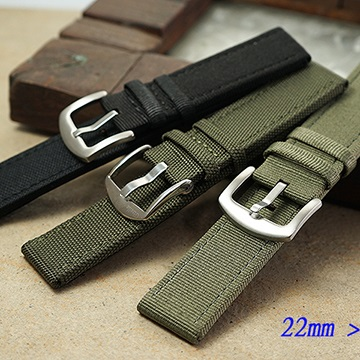 全新 進口高級強化纖維直身錶帶 (22mm)