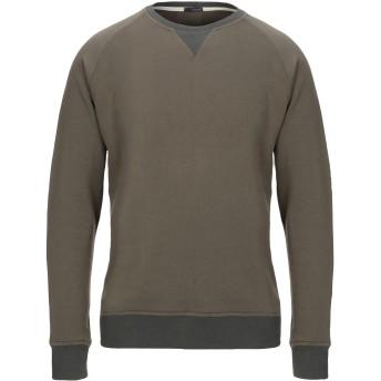 《セール開催中》(+) PEOPLE メンズ スウェットシャツ ミリタリーグリーン M コットン 100%
