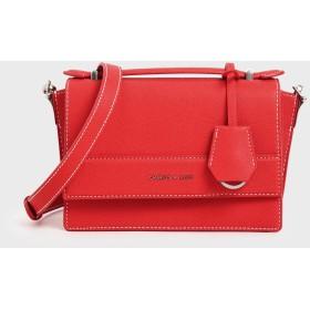 フロントフラップ トップハンドルバッグ / Front Flap Top Handle Bag (Red)