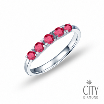 City Diamond引雅【許願流星】紅寶石線戒_DR3559