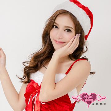 天使霓裳 聖誕帽 歡樂耶誕派對角色扮演配件(紅F)