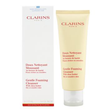《CLARINS 克蘭詩》乳木果潔顏泡泡125ml(乾性/敏感性肌膚適用)