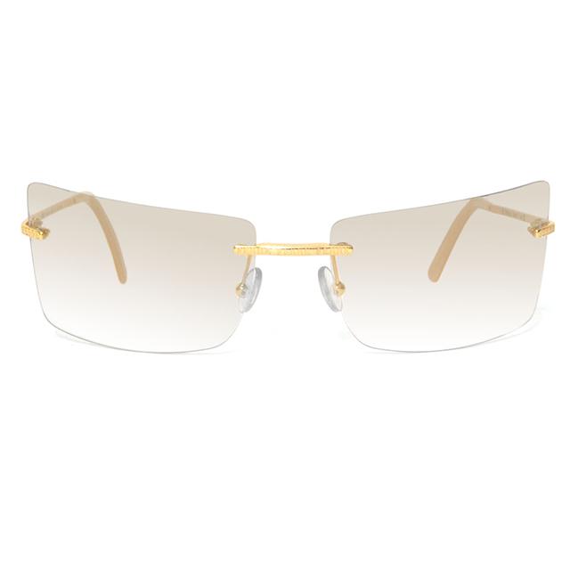 Gianfranco Ferré 義大利 個性方框漸層太陽眼鏡 / 金GF58102