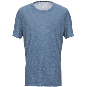 《セール開催中》NEVER ENOUGH メンズ T シャツ ブルーグレー XL 麻 100%