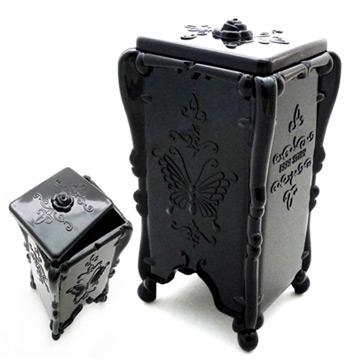 古典黑蝴蝶抽取式化妝棉盒收納盒