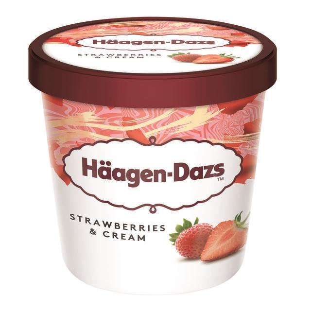 【哈根達斯-冷凍宅配】草莓品脫