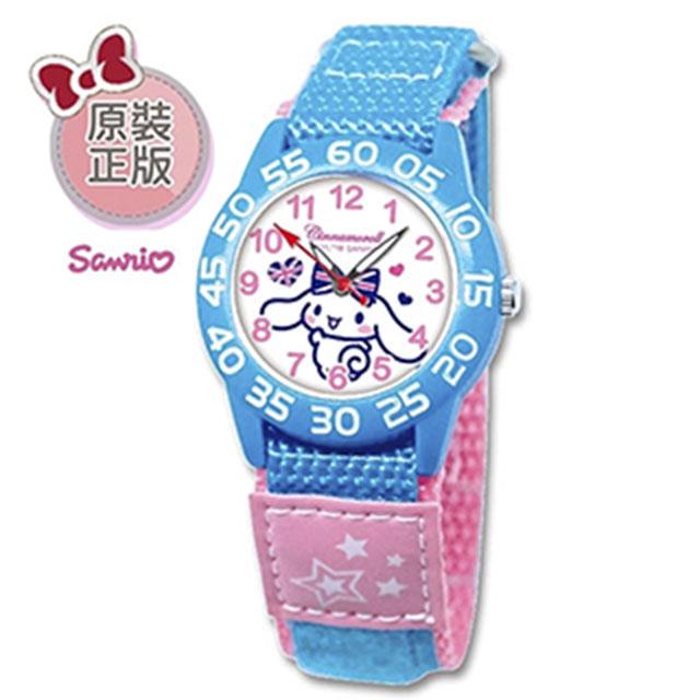 【三麗鷗】 兒童自黏織帶手錶_大耳狗喜拿(藍色)