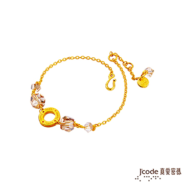 J'code真愛密碼  水晶物語黃金水晶手鍊