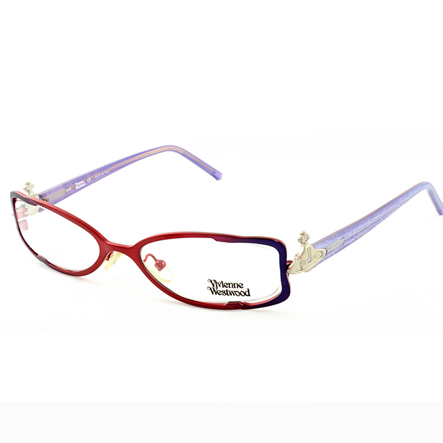 Vivienne Westwood 英國薇薇安魏斯伍德★經典立體土星渲染金粉★光學眼鏡(紫+紅) VW11303