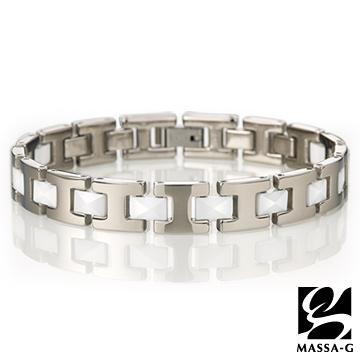 MASSA-G Deco系列《永恆印記》白色陶瓷純鈦手環