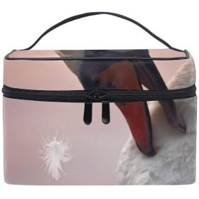 コブハクチョウコスメ 化粧 ポーチ レディース 大容量 コンパクト 中身が見やすい 防水 シンプル 小物入れ 旅行