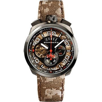 BOMBERG 炸彈錶 BOLT-68 石英計時碼錶-迷彩/45mm BS45CHPGM.018.3