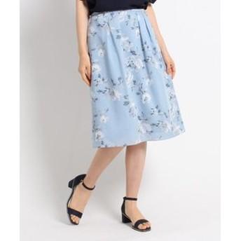 【SunaUna:スカート】【洗える】フラワークロススカート