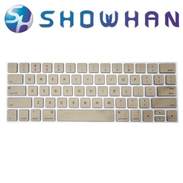 【SHOWHAN】Apple MacBook Pro Touch Bar 13吋英文鍵盤膜 金色