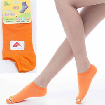 【KEROPPA】可諾帕7~12歲兒童專用吸濕排汗船型襪x桔紅色3雙(男女適用)C93005