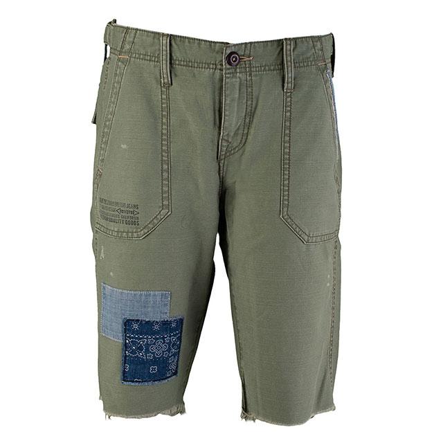 【美國True Religion】男REPAIRED PEACE軍裝短褲