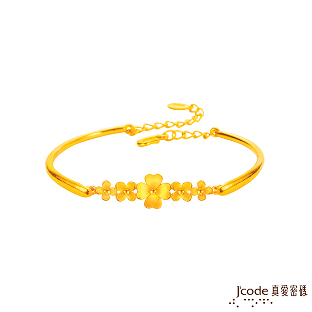 J'code真愛密碼   幸福愛語黃金手環 立體硬金款