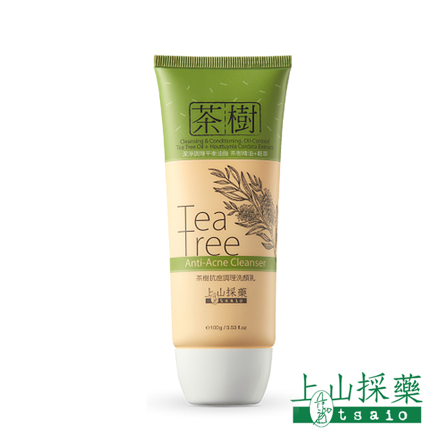 tasio上山採藥-茶樹抗痘調理洗顏乳 100g