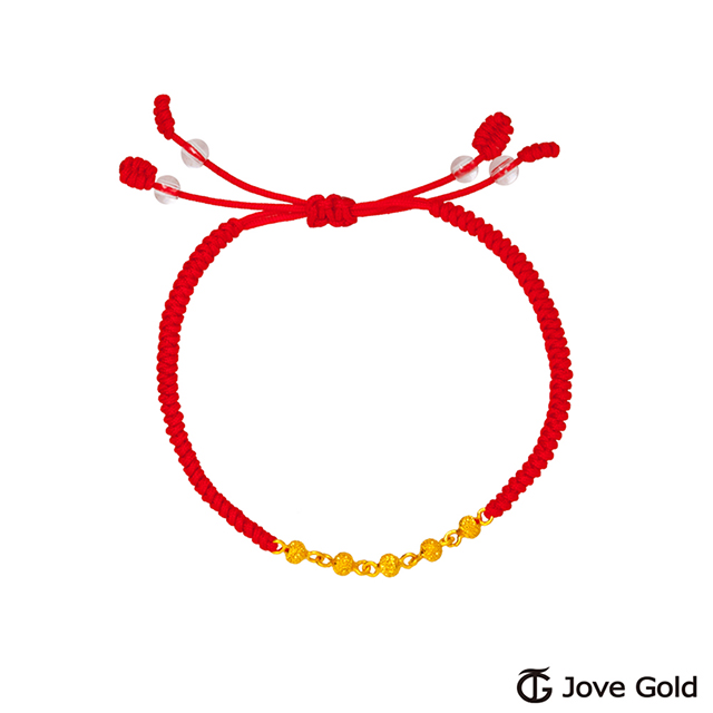 Jove Gold漾金飾 青春特調黃金繩手鍊-小