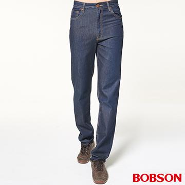 【BOBSON】男款高腰輕薄涼爽直筒褲(1783-53)