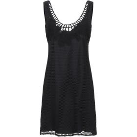 《セール開催中》RAFFAELA D'ANGELO レディース ミニワンピース&ドレス ブラック XS コットン 80% / ポリウレタン 20%