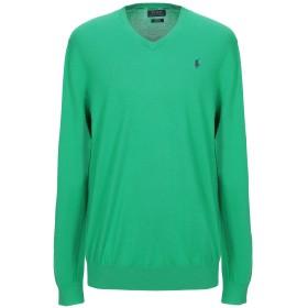 《セール開催中》POLO RALPH LAUREN メンズ プルオーバー グリーン XXL コットン 100% Slim Fit Cotton V Neck Sweater