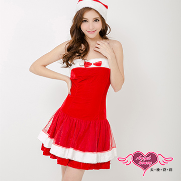 【天使霓裳】耀眼風格 狂熱聖誕舞會 耶誕服 角色服(紅)