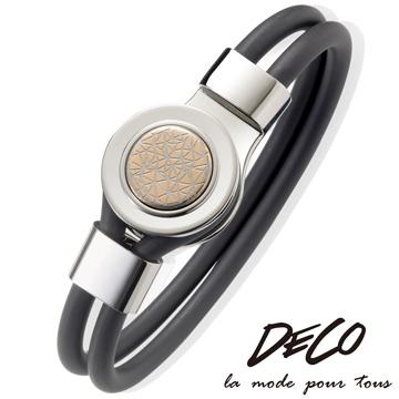 MASSA-G DECO系列【The Rococo 洛可可謎藏-玫瑰金】鍺鈦能量手環