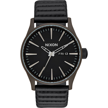 NIXON SENTRY LEATHER 冷冽爵士時尚腕錶-A1052138