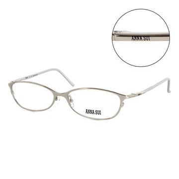 Anna Sui 日本安娜蘇 個性經典造型平光眼鏡(銀) AS06204