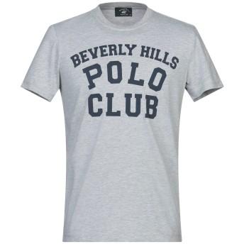 《セール開催中》BEVERLY HILLS POLO CLUB メンズ T シャツ グレー M コットン 100%